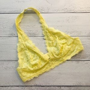 Intimately Free People yellow lace halter bralette